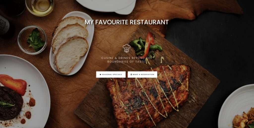 Restaurant demo website